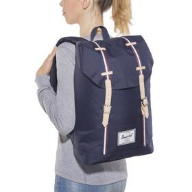 Herschel Retreat Backpack Peacoat/Windsor Wine/White